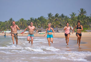 Fitness camp on the beach in Sri Lanka