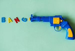 FREE: Toy Gun with 15 Soft Bullets